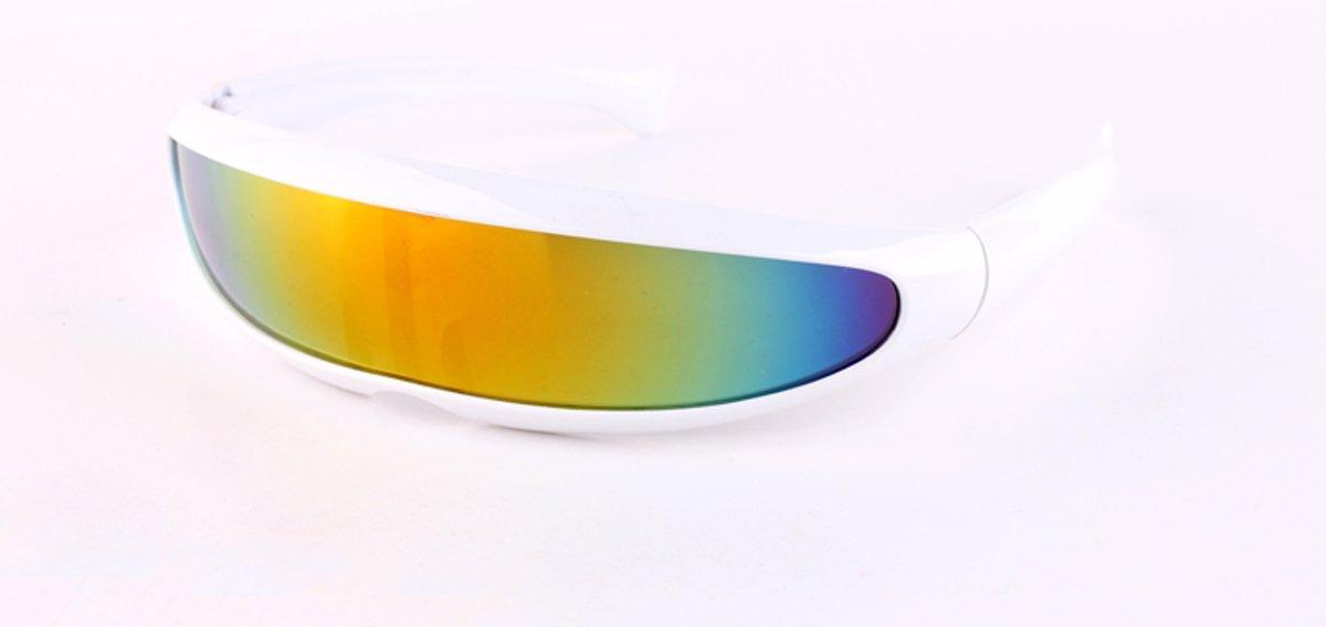 Snelle Planga - Zonnebril - Wit - Gestroomlijnd - Vlot Montuurtje