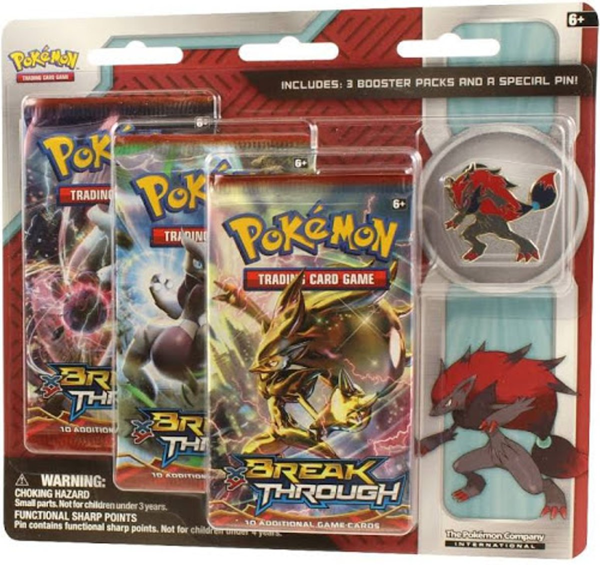 Pokemon Zoroark Triple Pack 3 Breakthrough Boosters kopen