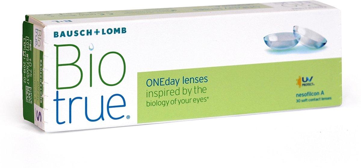 Foto van +0,25 Biotrue ONEDay - 30 pack - Daglenzen - Contactlenzen