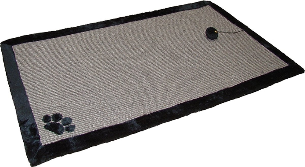 Nobby krabmat met speelbal en belletje zwart 100 x 60 - 1 st