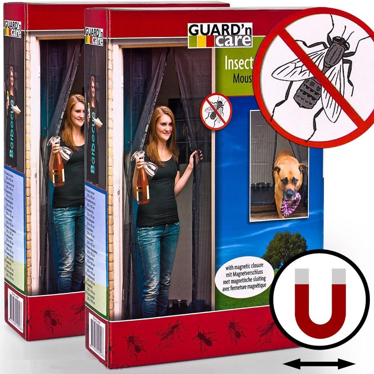 Lamellenhor voor deuren (met magneet) - 100x220 cm - Zwart kopen