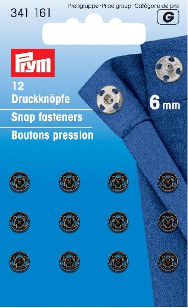 Prym Drukkers Zwart 6mm kopen