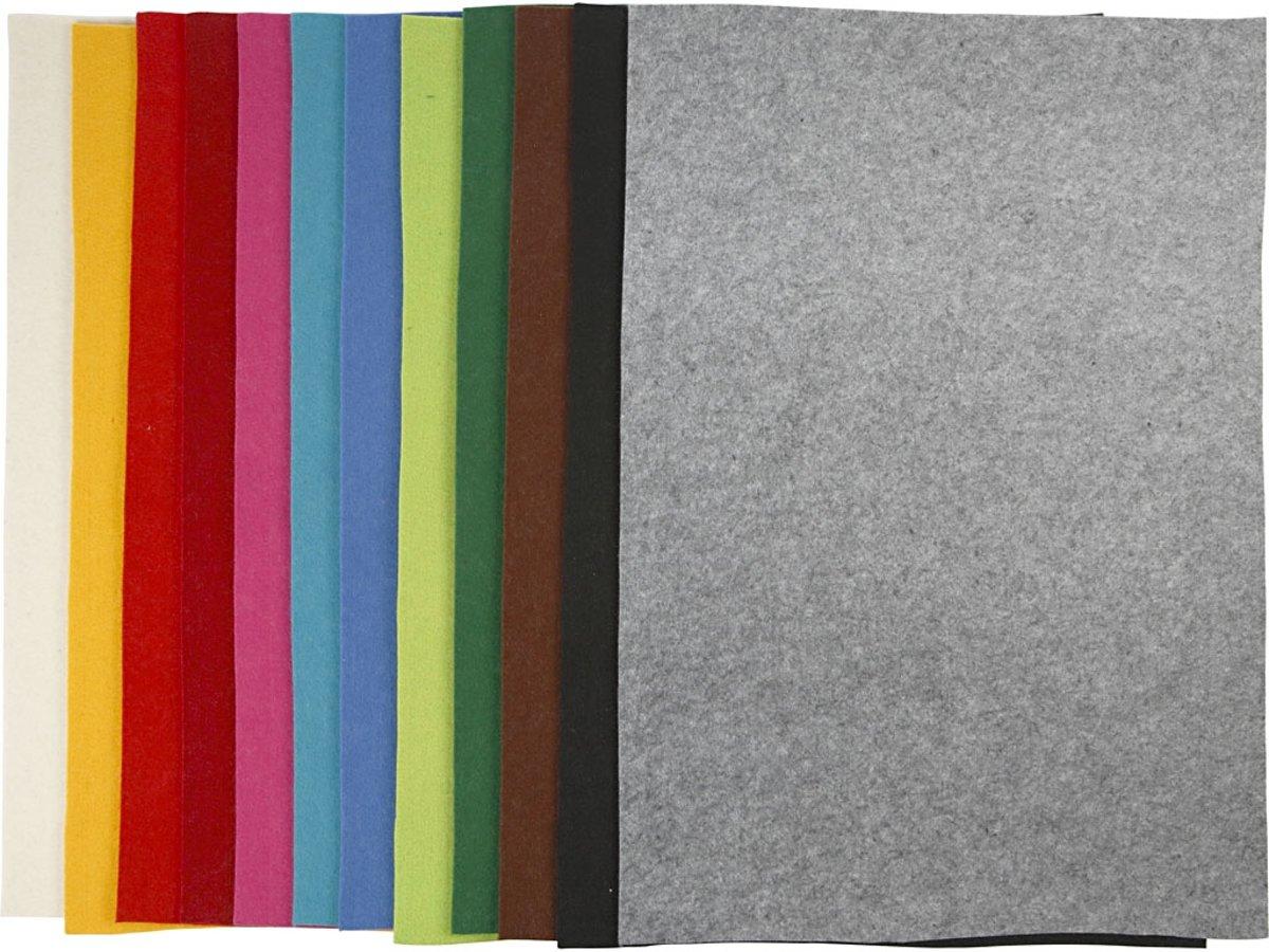 Hobbyvilt, vel 42x60 cm, kleuren assorti, 12 assorti vel kopen