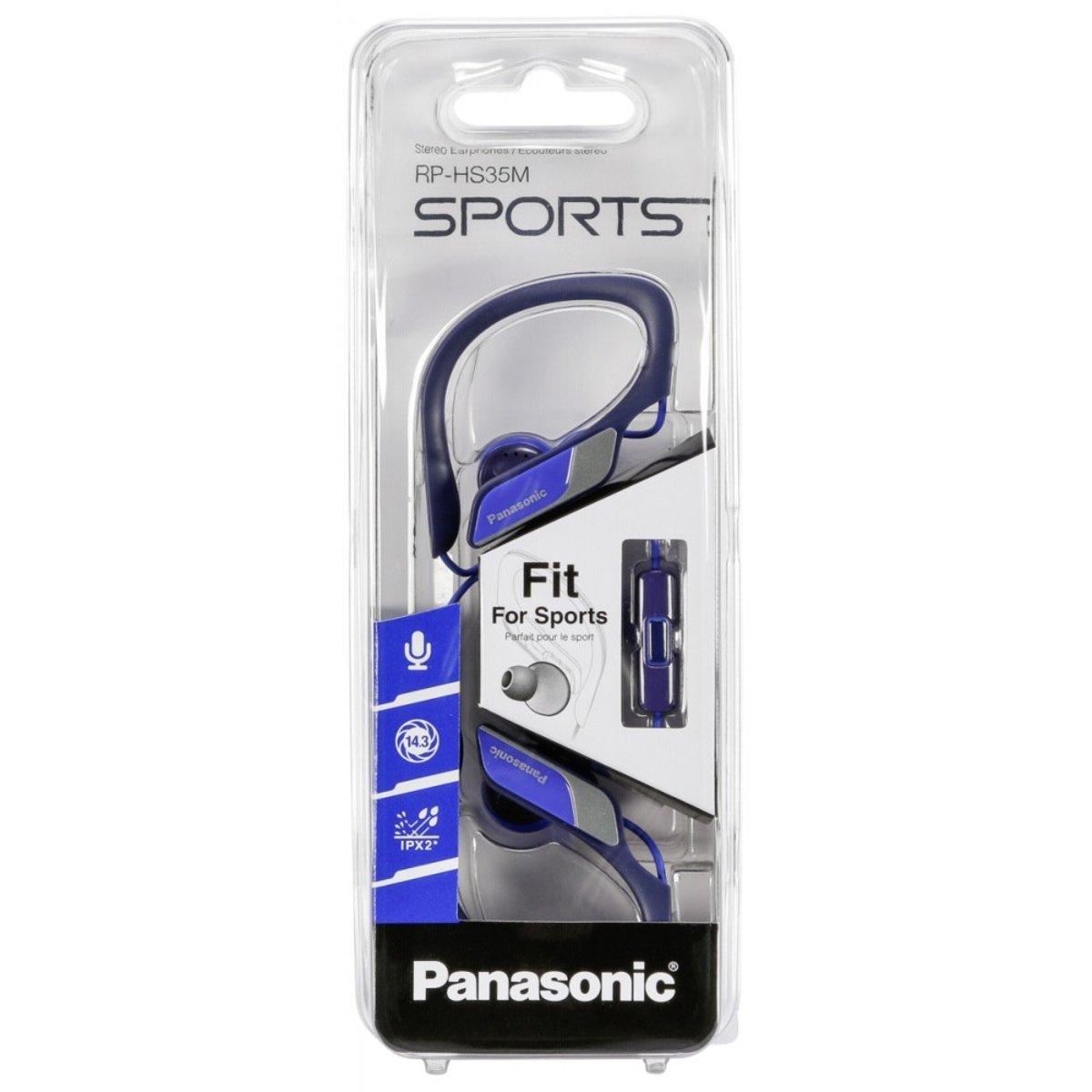 Panasonic RP-HS35ME-A Clip Sportkopfhörer blau kopen
