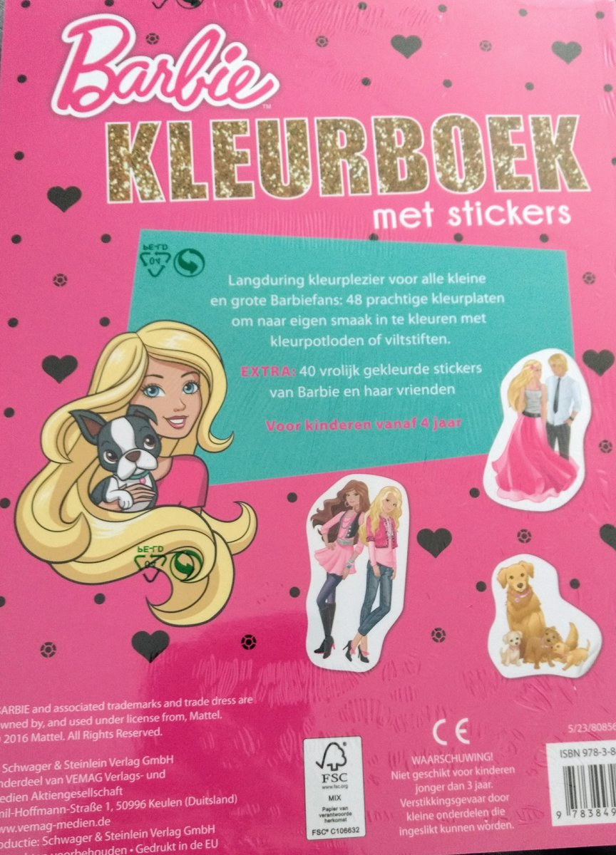 Kleurplaten Topmodel Aankleden.Bol Com Barbie Kleurboek Met Stickers Mattel Speelgoed