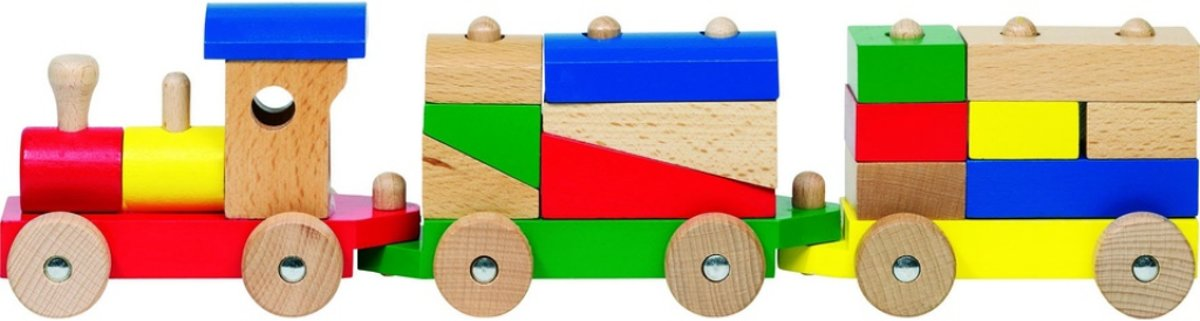 Goki Houten trein rome 40 x 7,5 x 10 cm kopen