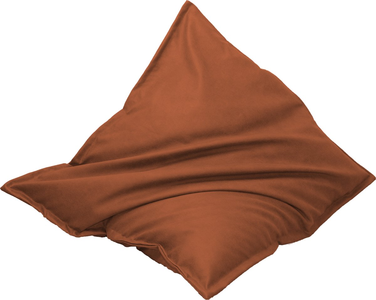 Drop & Sit Leather look zitzak 100 x 150 cm  - Terra kopen