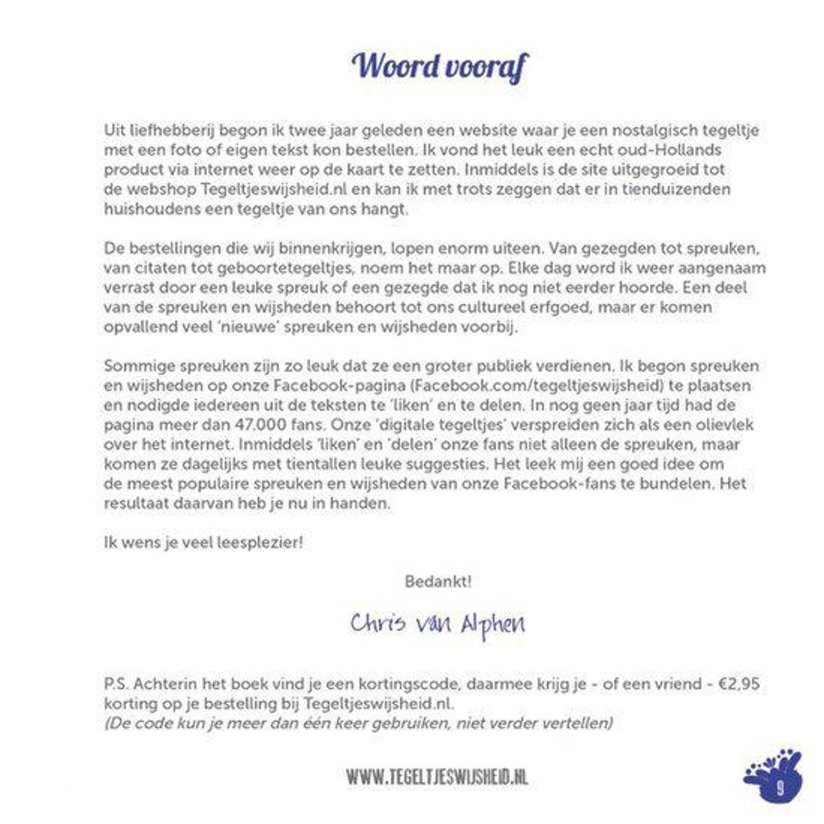 Bolcom Tegeltjeswijsheidnl Chris Van Alphen