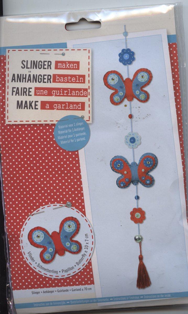 Knutselset Vlinder-hanger/ slinger / vilt
