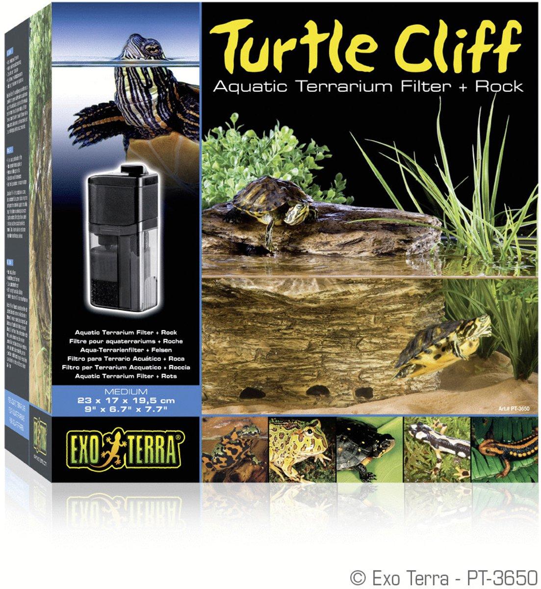 Exo Terra Terrarium decoratie Filterrots Turtle Cliff - 23 x 17 x 1