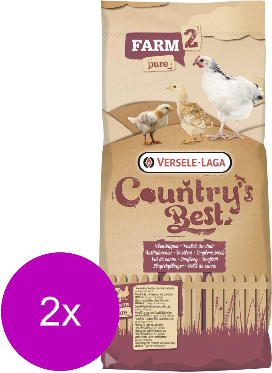 Versele-Laga Country`s Best Farm 2 Pure Pellet - Kippenvoer - 2 x 20 kg Van 10 Dagen