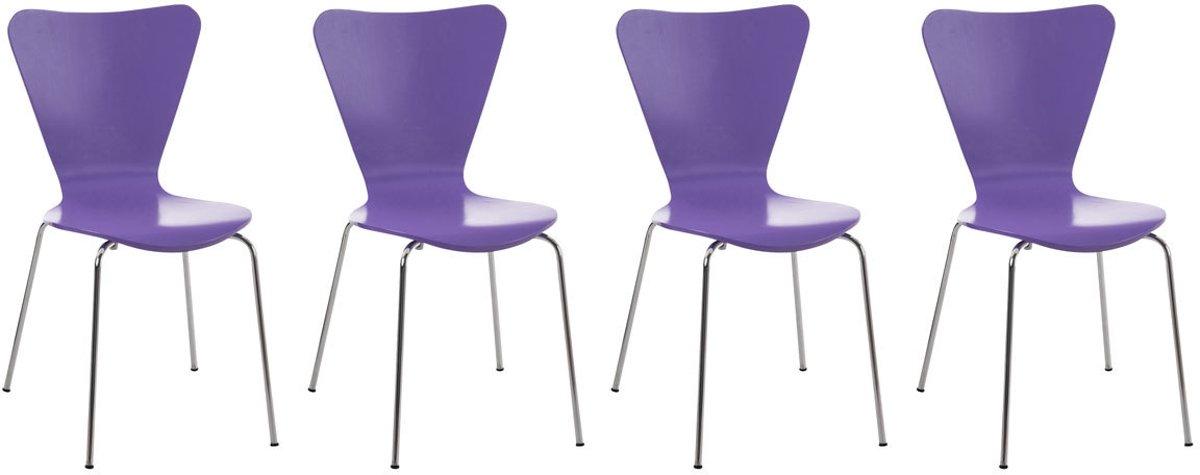 Clp Bezoekersstoel, keukenstoel, conferentiestoel CALISTO - set van 4 - lila kopen