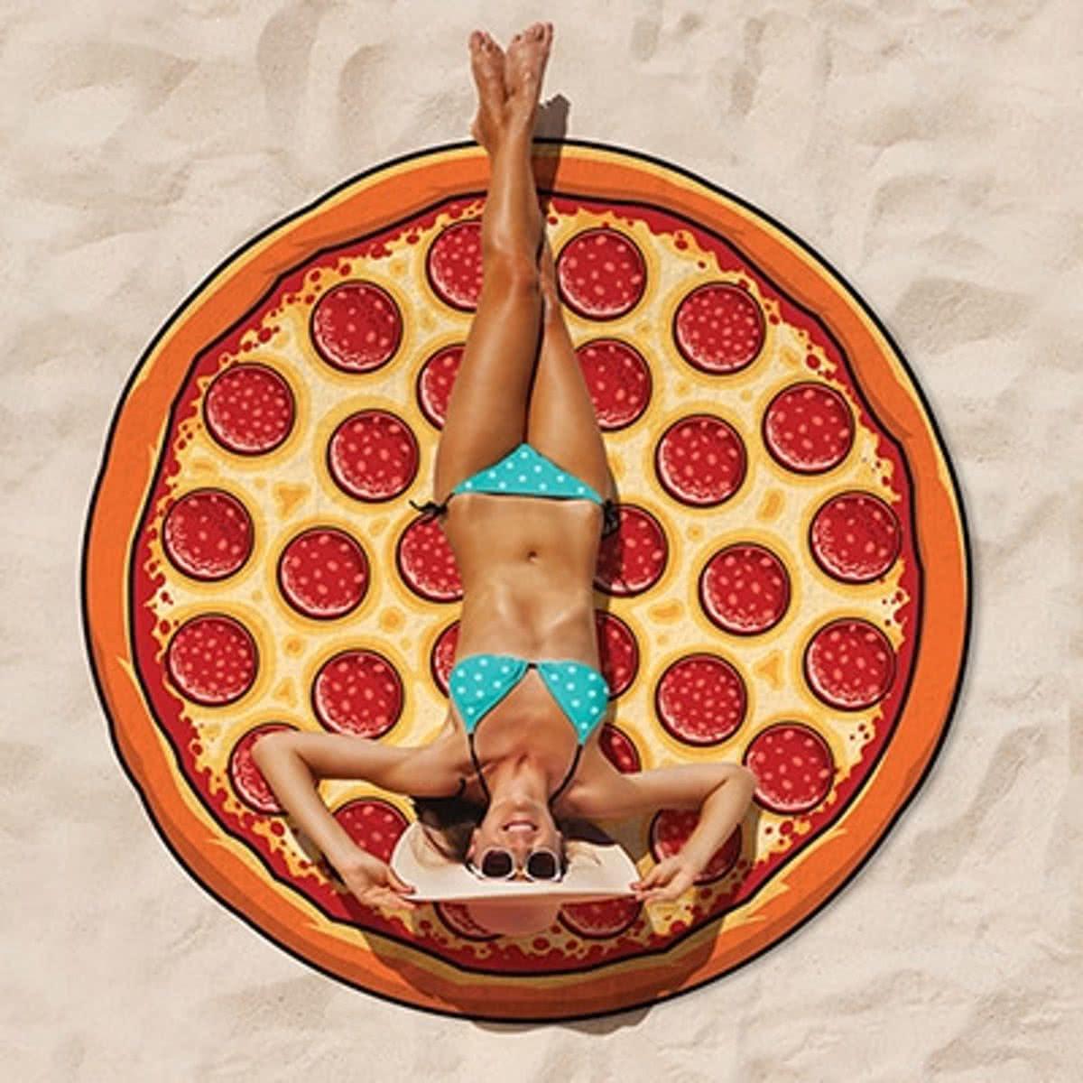 4363421992f Pizza Strandlaken – Beach Blanket Pizza - Big Mouth badlaken - ø 1,5 meter