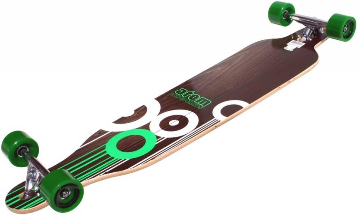 Atom Drop-through Longboard Green kopen