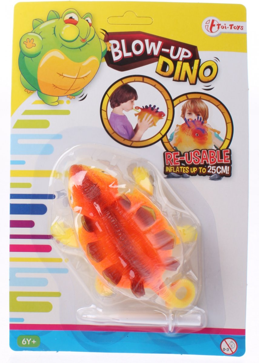 Toi-toys Blow-up Dino 25 Cm Geel kopen
