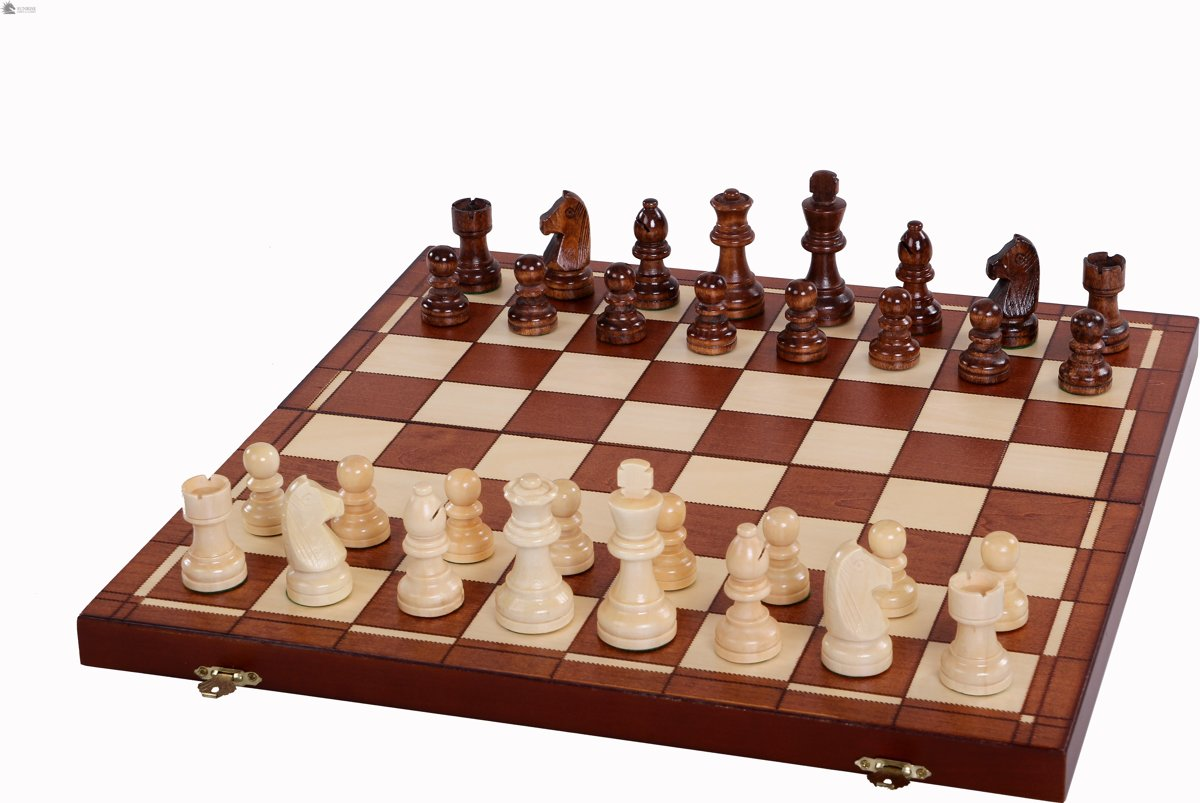 Sunrise- Schaken+Dammen+Backgammon - schaakspel schaakbord (Hout)