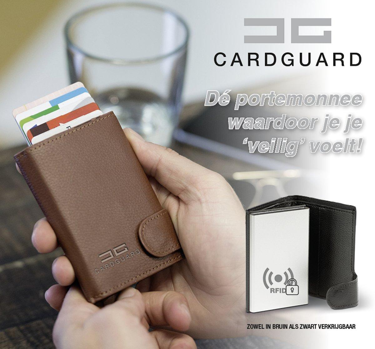 2c8d596b6e1 ... Card Guard Protector Wallet - heren portemonnee zwart - pasjeshouder -  RFID - Card Guard ...