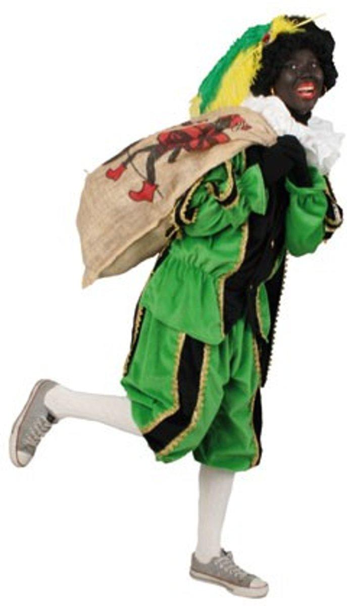 Piet plushe zwart/groen (mooie kwaliteit voor buiten) Maat M