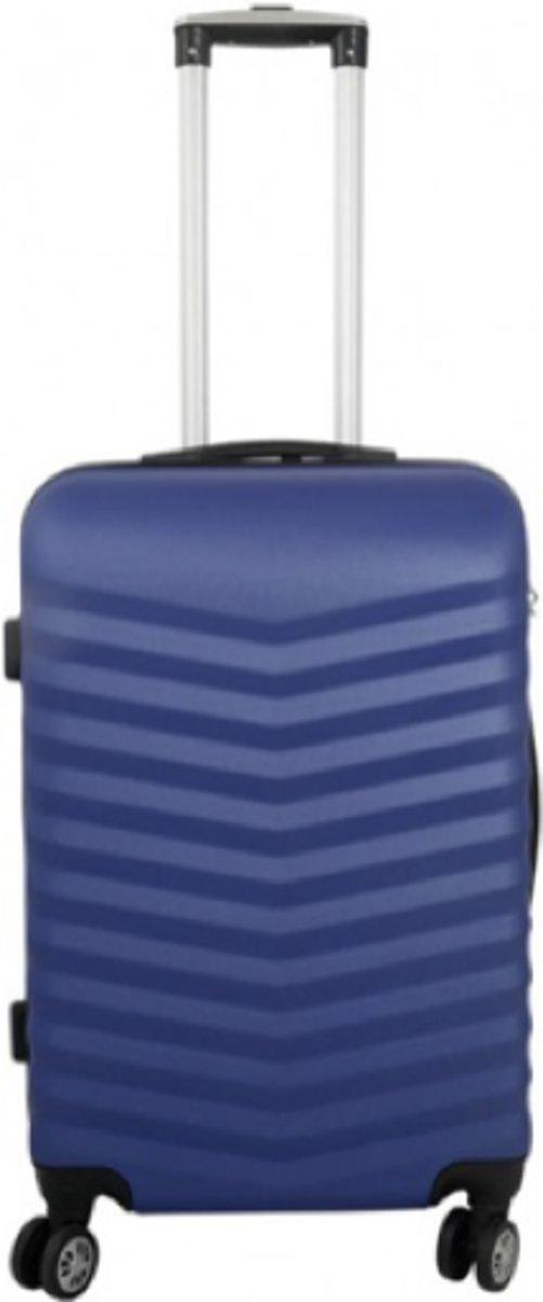 koffer Travelsuitcase kleur blauw | 56cm kopen