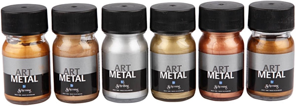 ES Art Metal Verf - Verf - Set met 6 Metallic Kleuren kopen