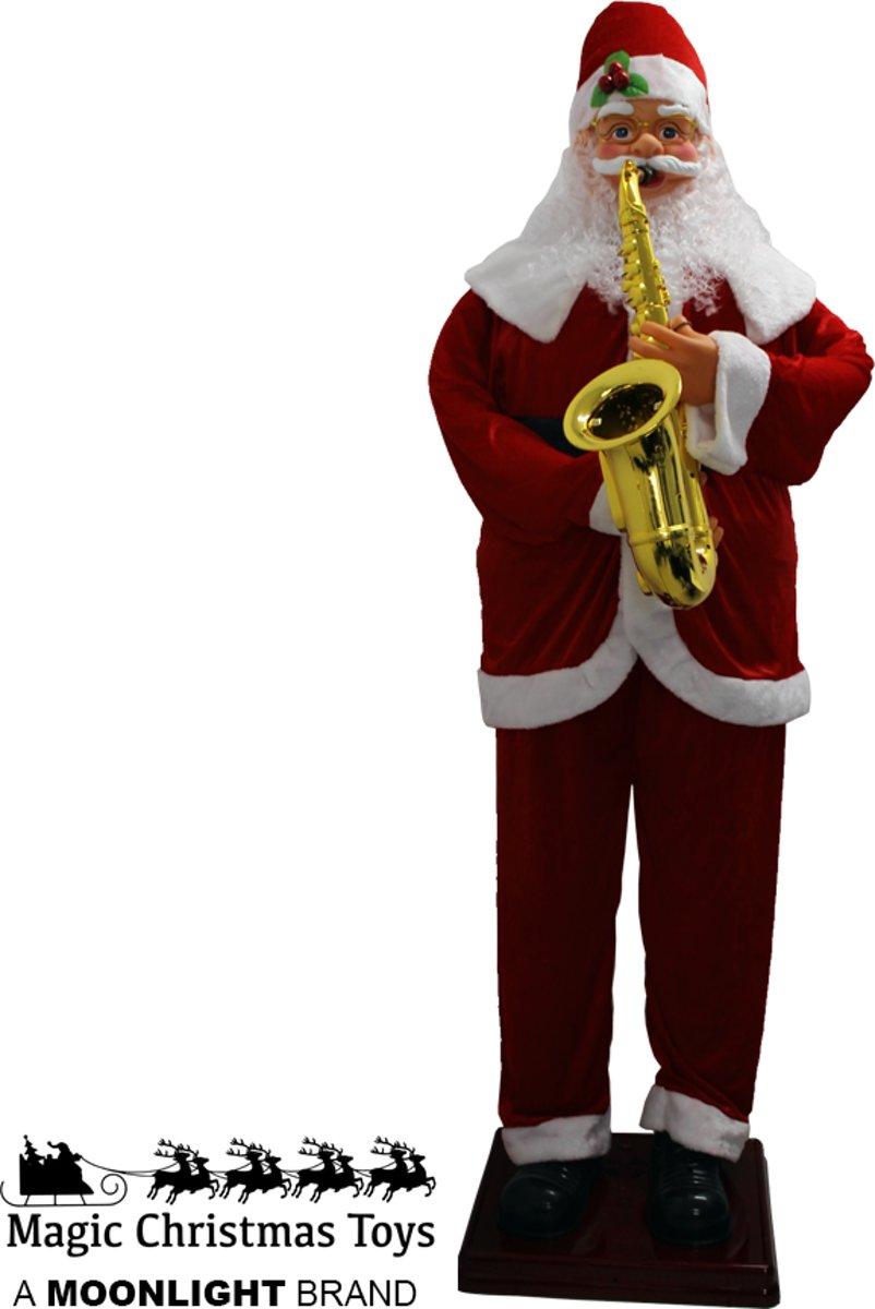 Dansende Kerstman met saxofoon (1.80M) kopen