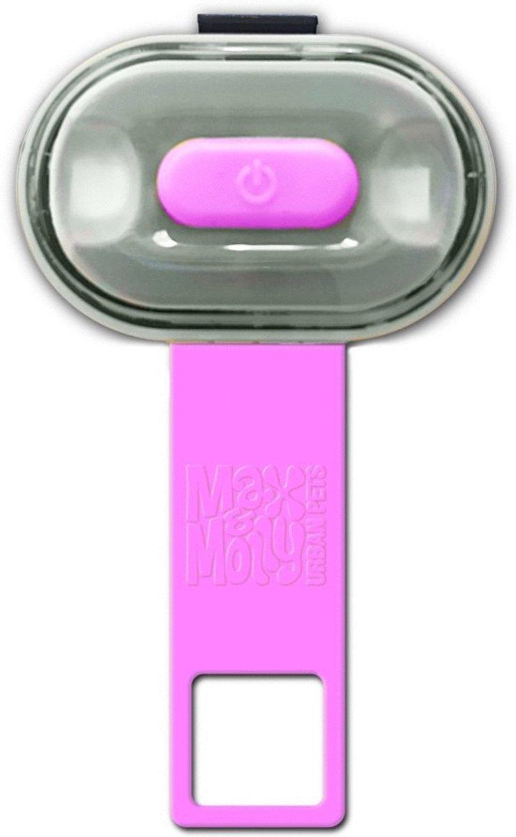 Max&Molly Matrix Ultra Led Usb Oplaadbaar - Hondenveiligheidslampje - Roze kopen