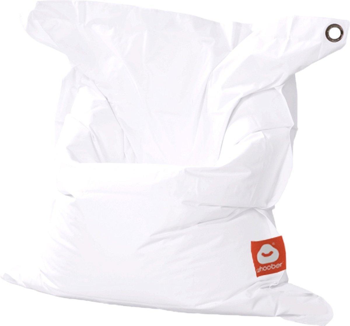 LC Zitzak, Model St. Trop Medium - 145 x 125 cm - Uniek - Wasbaar in wasmachine - Voor binnen en buiten - Origineel model  - Polyester Rechthoekige Zitzak - Eigen fabrikaat - Met handige ophangoog - Wit kopen