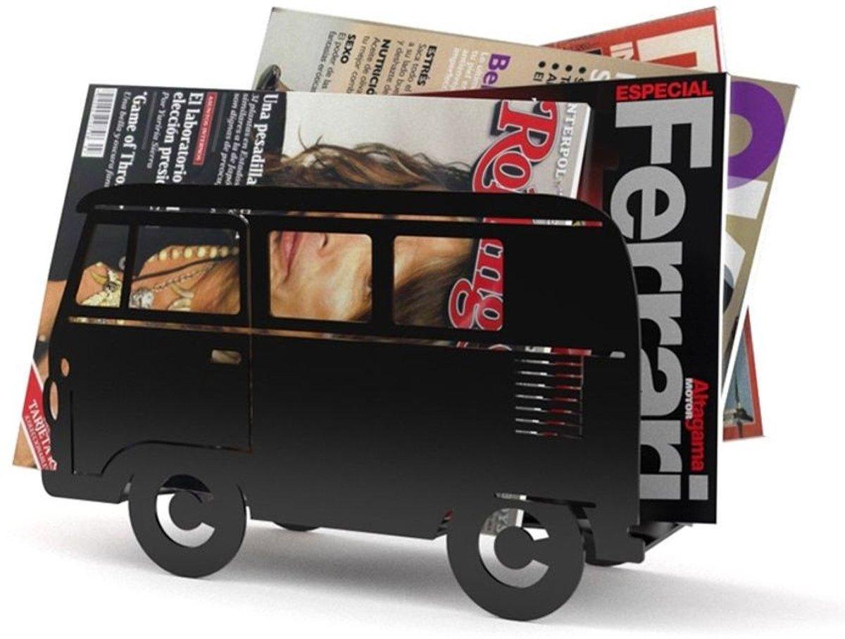 Balvi tijdschriftenrek bus Van - Zwart kopen