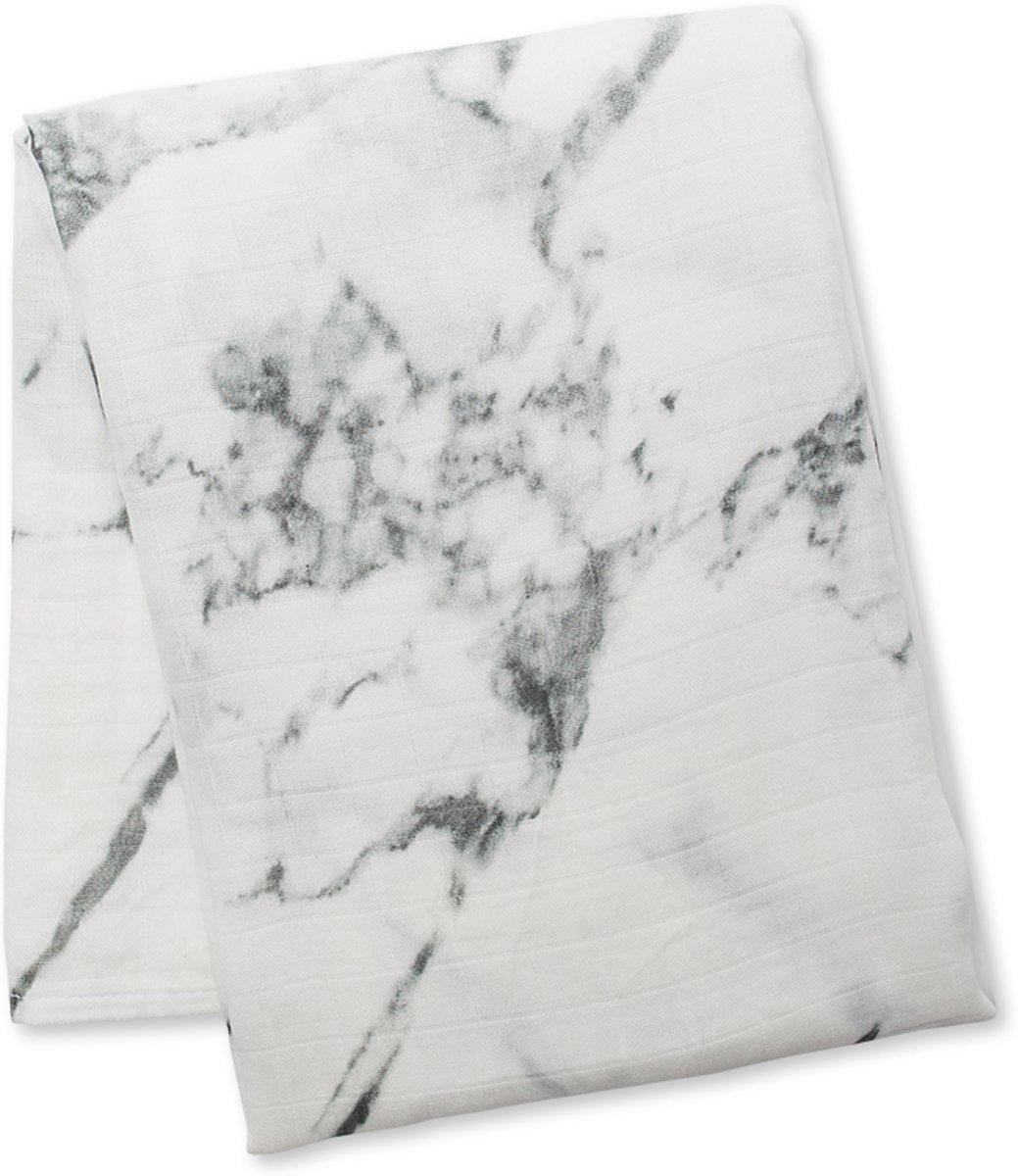 Lulujo swaddle bamboo 120x120 - Marble