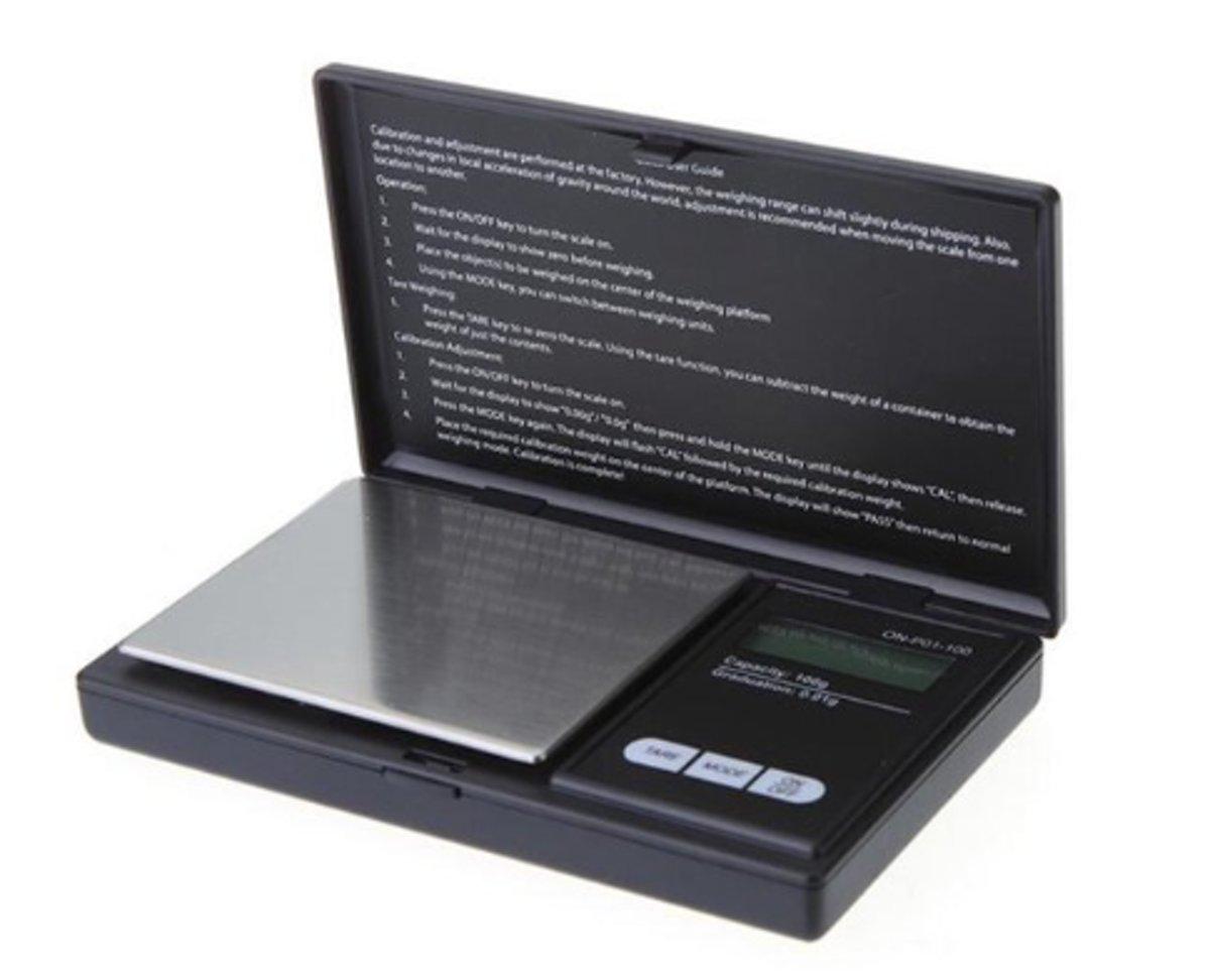 Weegschaal - Keukenweegschaal - Schaal - Weegschaaltje - 0,1 gram tot 500 gram