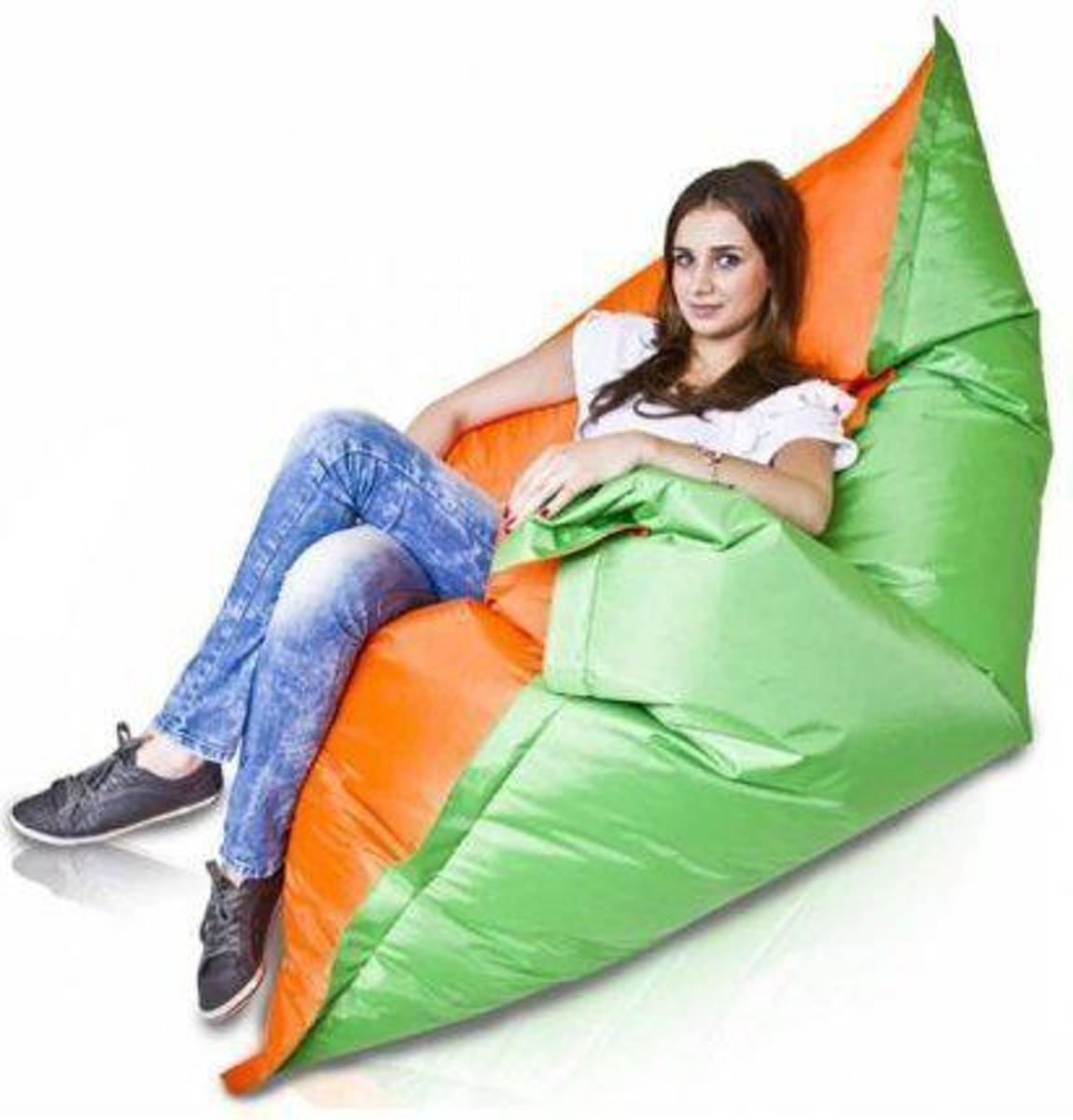 Bomba Colori - Zitzak - Vierkant - 175x135 cm - Nylon - Groen/oranje kopen
