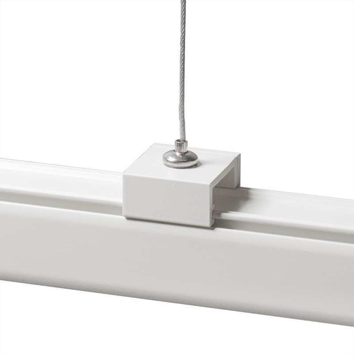 QAZQA Suspension - 3-fase railsysteem rail -  Lichts - Ø5 cm - wit kopen