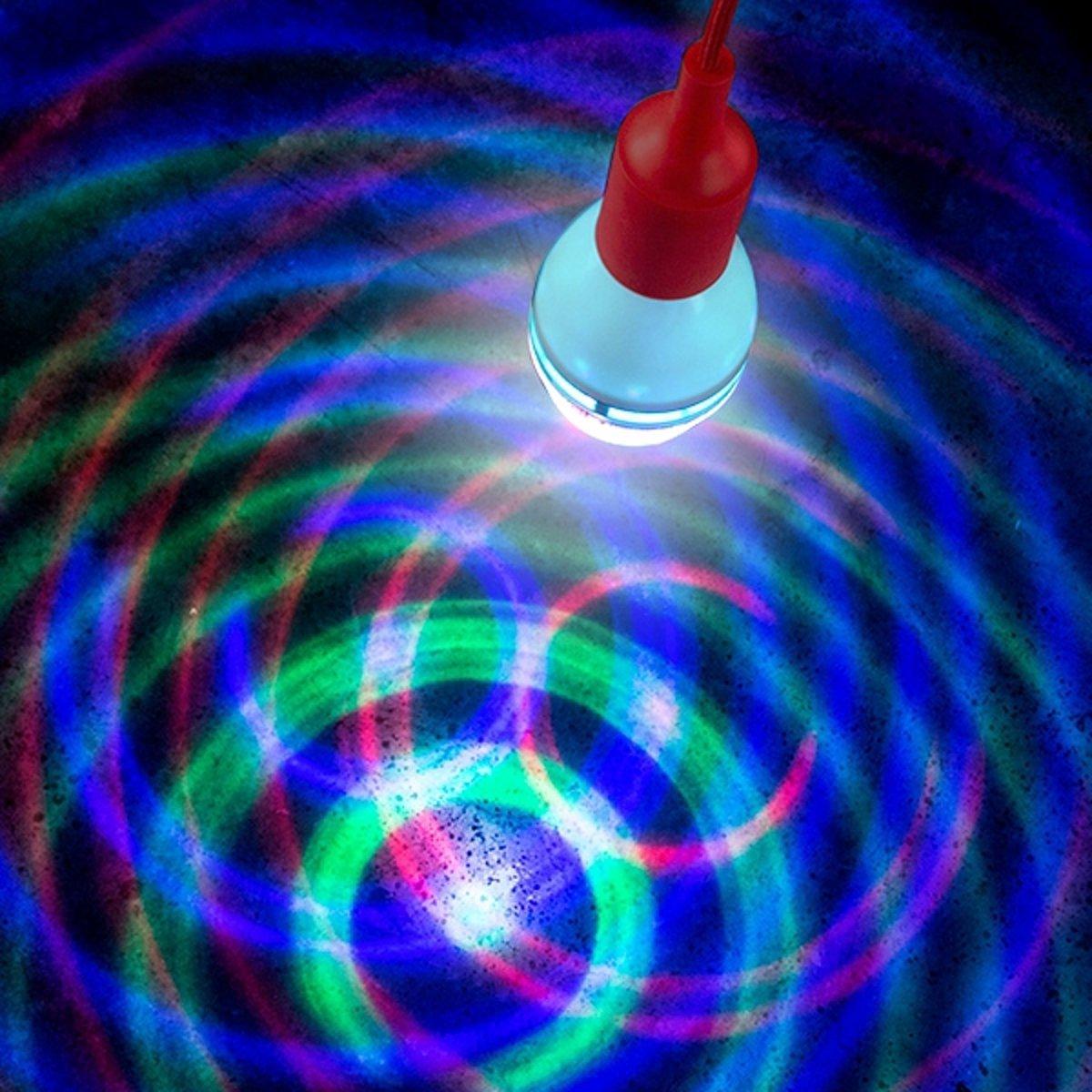 Ronddraaiende LED-Lamp - met diverse kleuren kopen