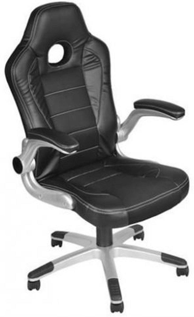 Gaming Race Chair - Bureaustoel - Ergonomische Luxe Racing Style Design Game Computer Stoel - Zwart kopen