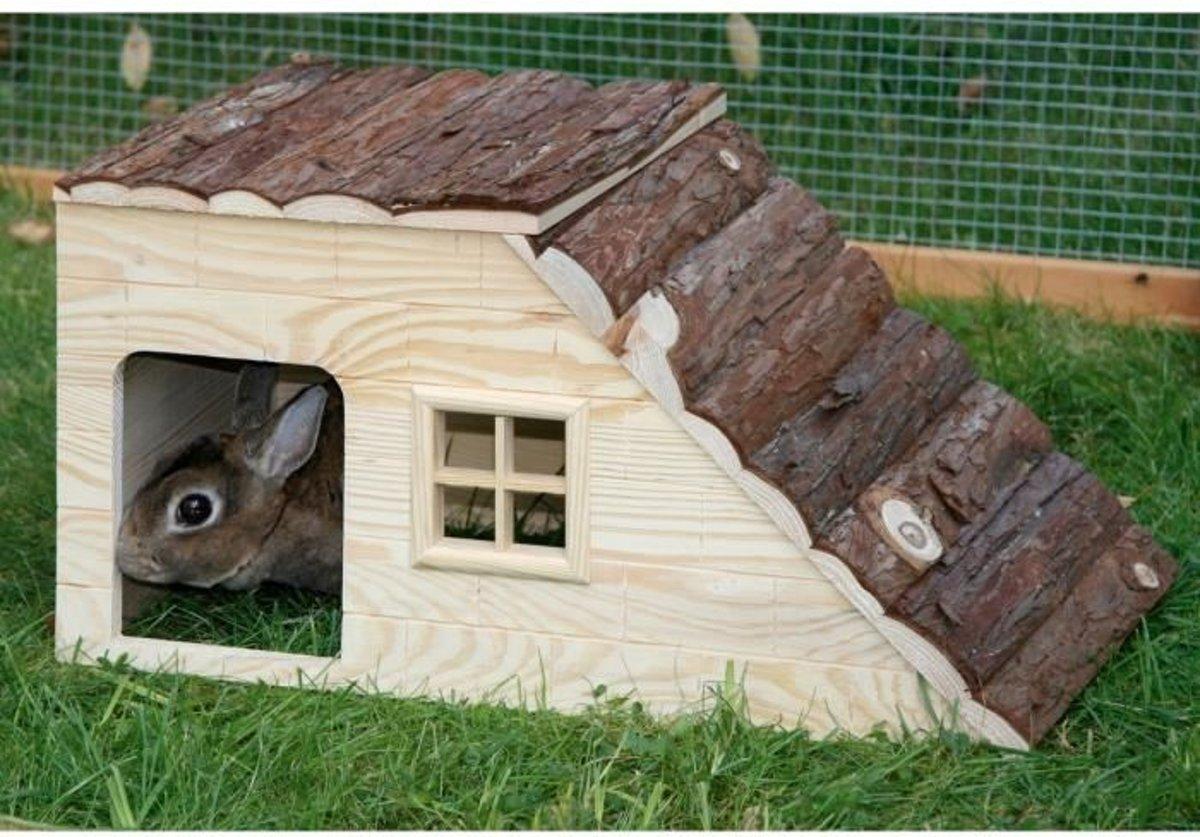 Kerbl Nature Plus Konijnenhuis - met Oploop