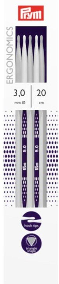 Prym ergonomics 5 stuks kousenbreinaalden 20 cm 3,0 mm kopen