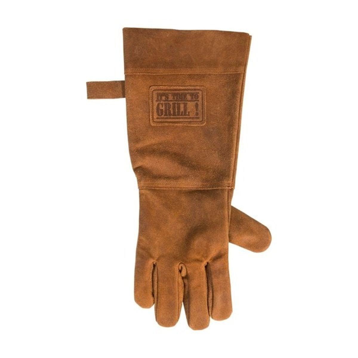 Leren Handschoen Barbecue Licht Bruin / Cognac   BBQ Lederen Handschoen Rechts   Vaderdag Kados   Hittebestendige BBQ & Over handschoen – Extra groot voor betere bescherming   Gevoerd   kopen