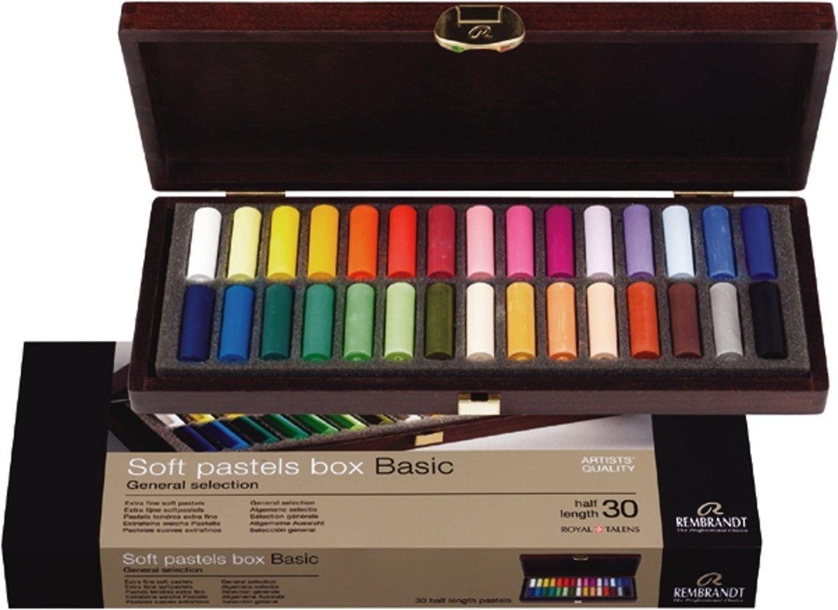 Rembrandt softpastel half kist 30 kleuren - Basic kopen
