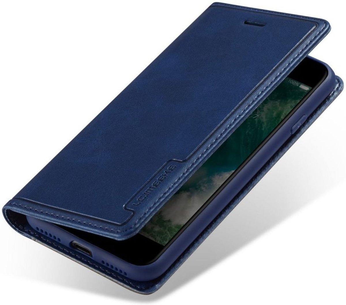 Apple iPhone SE (2020) Hoesje Retro Portemonnee Book Case Blauw