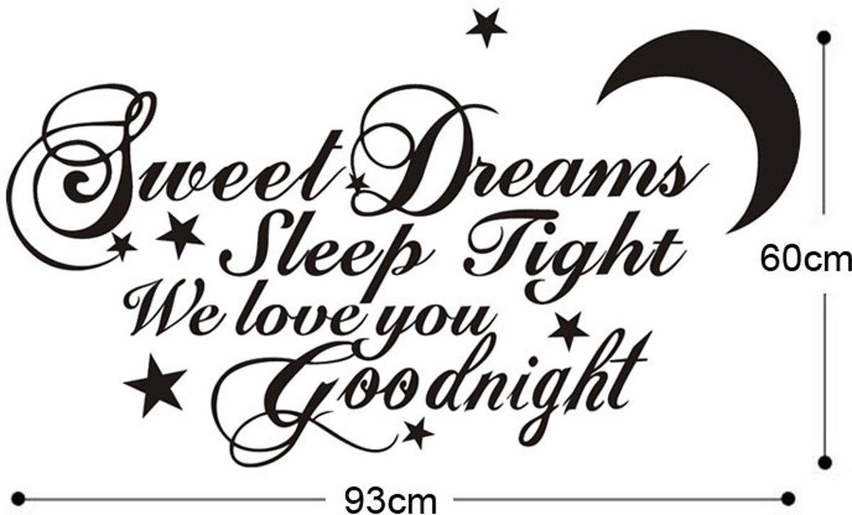 Bolcom Muursticker Sweet Dreams Sleep Tight We Love You Goodnight