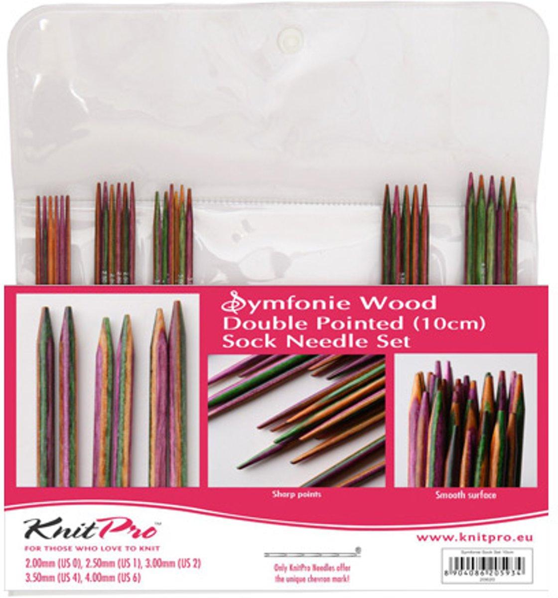 KnitPro Symfonie Wood sokkennaalden 10cm - set kopen