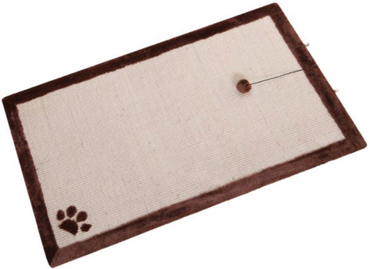 Nobby krabmat met speelbal en belletje bruin 100 x 60 - 1 st