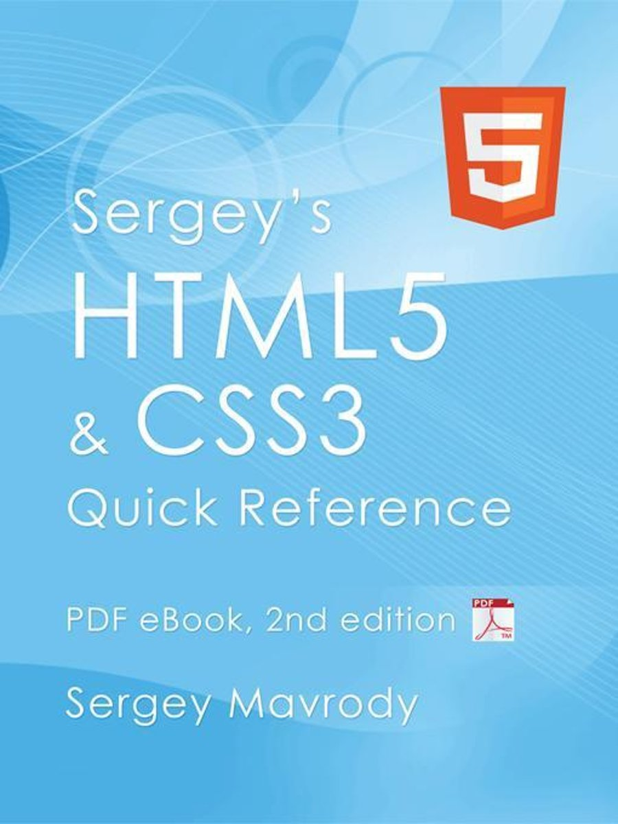 Bol Com Sergey S Html5 Css3 Quick Reference Pdf Ebook 2nd