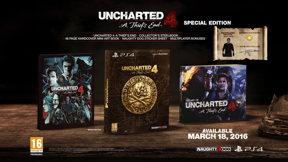 Uncharted 4: A Thief's End - Special Edition PlayStation 4