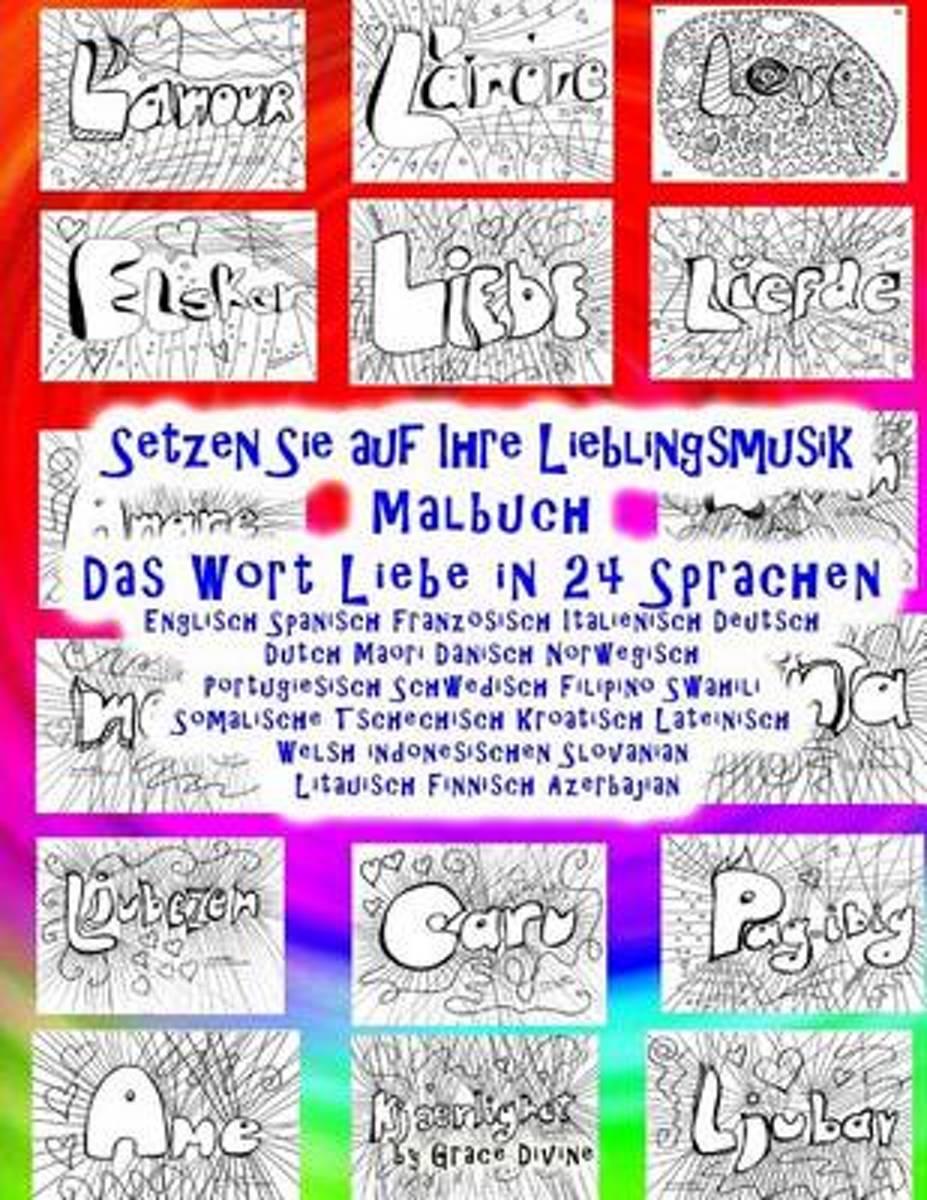 bol.com   Setzen Sie Auf Ihre Lieblingsmusik Malbuch Das Wort Liebe ...