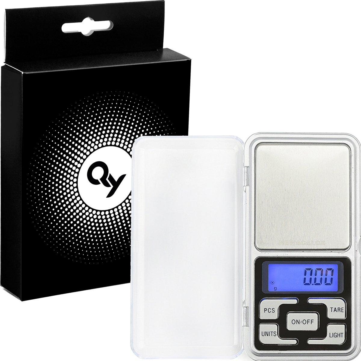QY Precisie mini weegschaal –Zak Weegschaal / Keuken weegschaal / Dieet weegschaal / 0.01 g-200 g