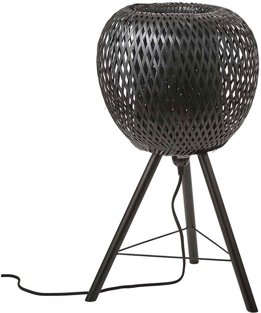 | Mica Decorations boris tafellamp zwart maat: 59 x 33cm