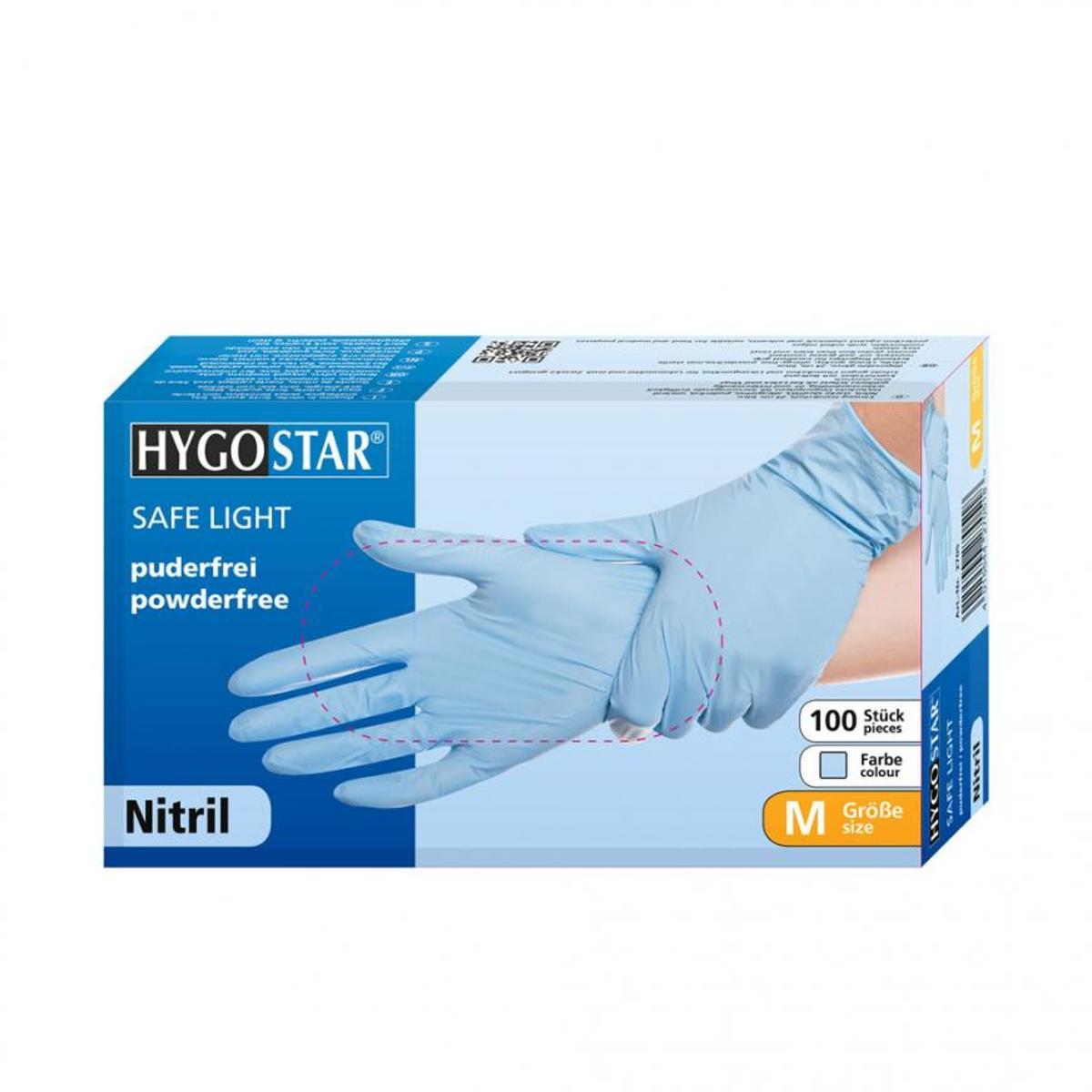 Nitril poedervrije handschoenen blauw maat XL kopen