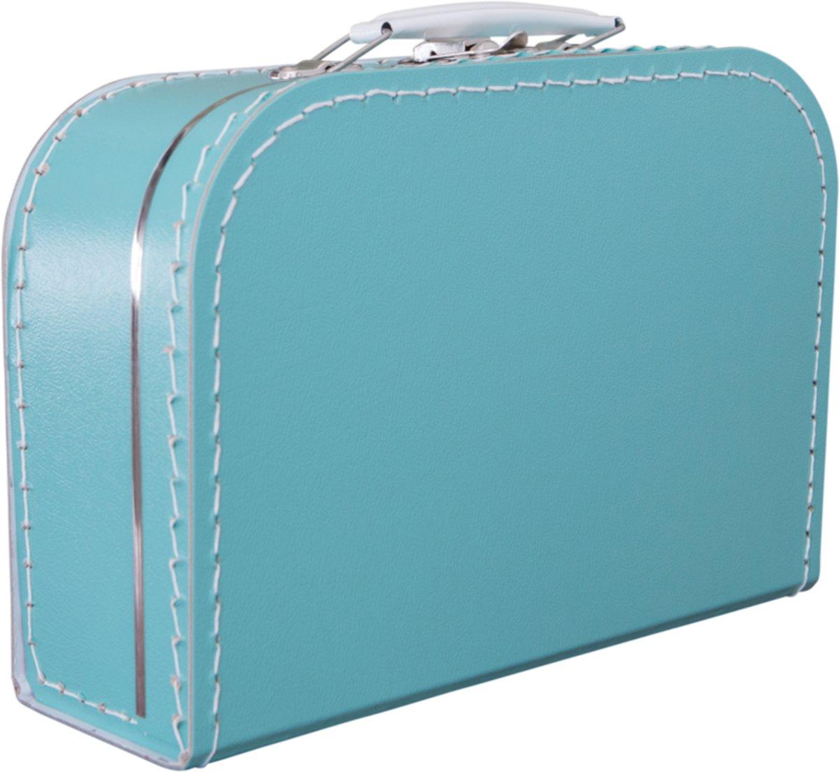 Koffertje effen blanco Turquoise kopen