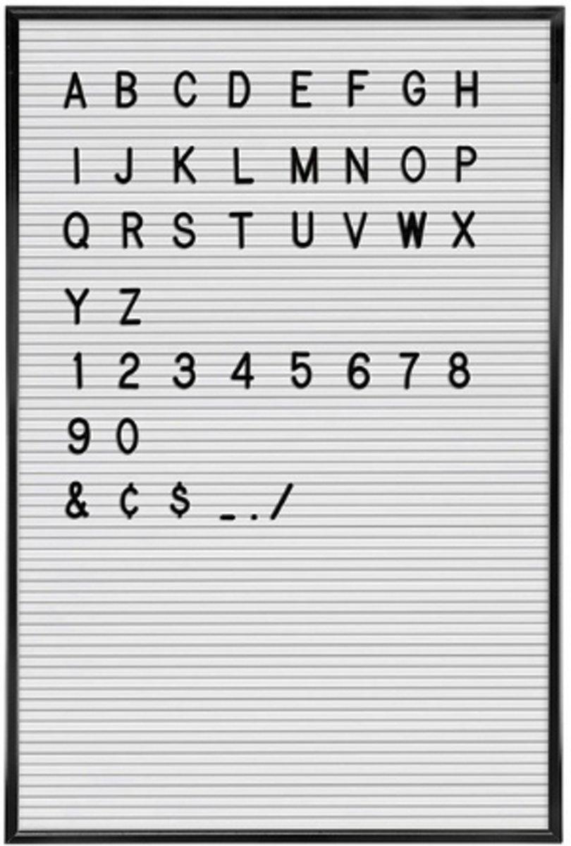 Letterbord - Hout - Wit - 37 x 57 cm kopen